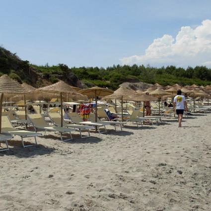 Spiaggia attrezzata dell'Hotel Resort Baia dei Turchi