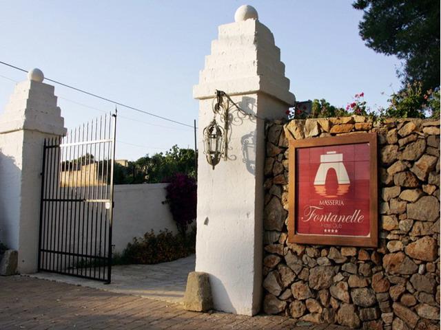 Ingresso della Masseria Fontanelle a Ugento