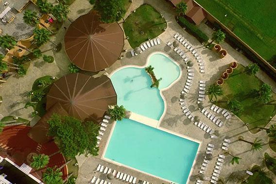 Vista dall'alto dell'hotel resort barone di mare