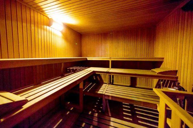 Sauna nel centro benessere