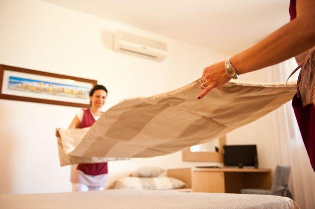 lenzuola e asciugamani sempre puliti