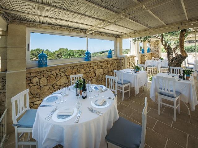 la terrazza ristorante all'aperto