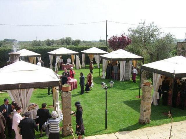 Ampio giardino della masseria