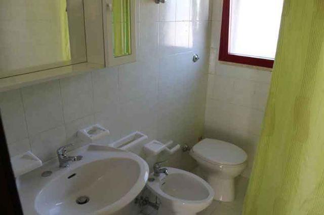 il bagno privato in ciascuna camera