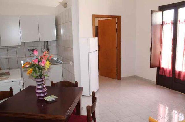 Il soggiorno con angolo cottura degli appartamenti