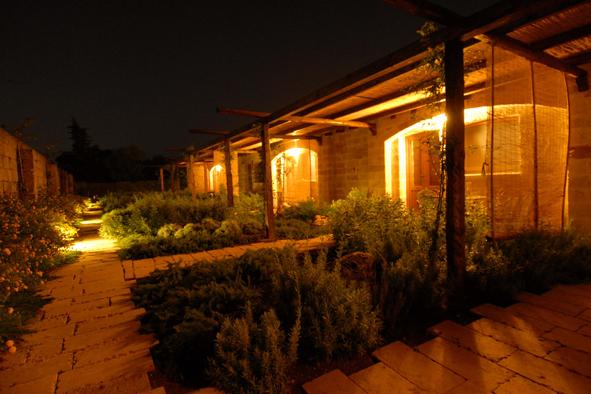 patio arredato delle camere con pergolato