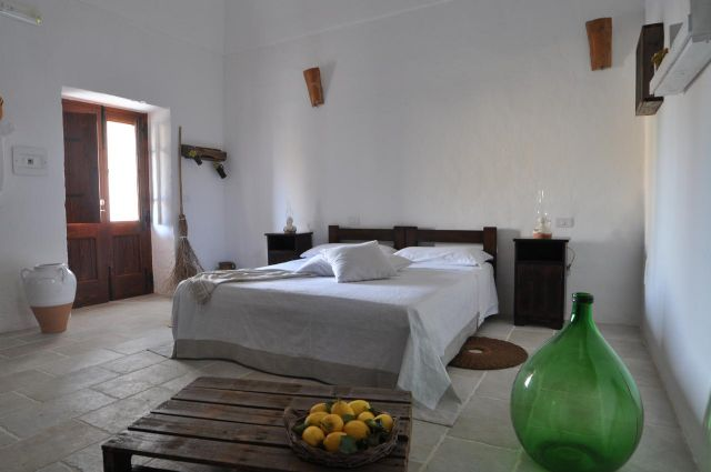 camera della dimora storica di Masseria Uccio