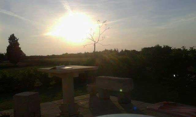 il tramonto su casa vacanza Messapia