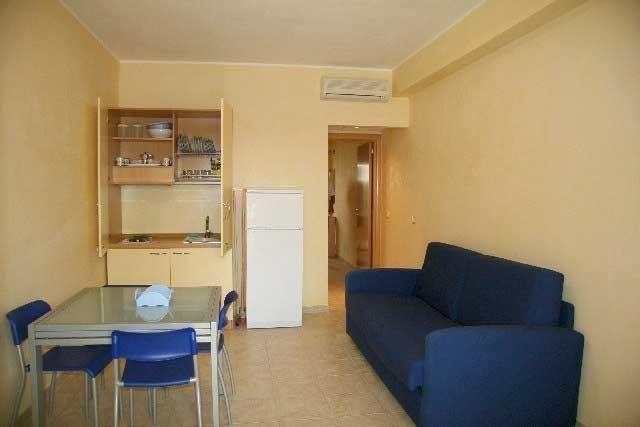 soggiorno di un appartamento bilocale o trilocale