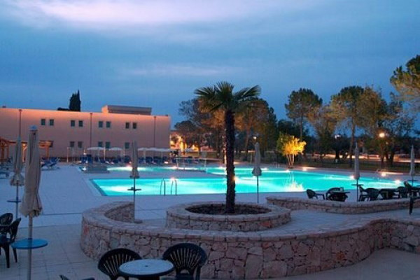 Vista notturna del Villaggio