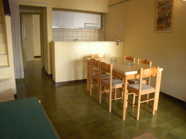 Vista del soggiorno pranzo di uno degli appartamenti