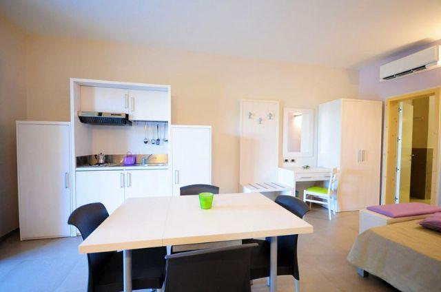 il soggiorno negli appartamenti