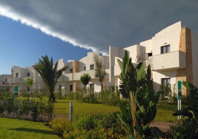 Vista degli spazi esterni e degli appartamenti